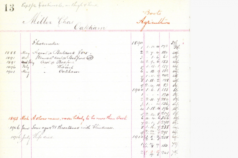 1909 Superintendent's Record Book  Or even worse a 'slow man'?