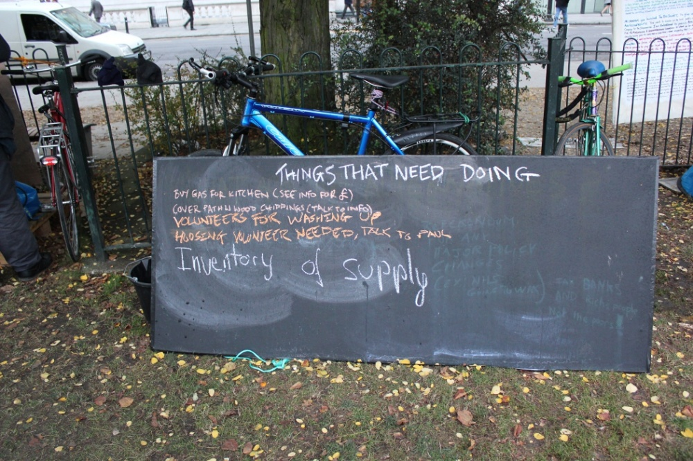 Early November 2011 outside St Paul's and at Finsbury Circus