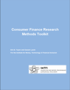 Consumer Finance Research Methods Toolkit by Erin B. Taylor and Gawain Lynch